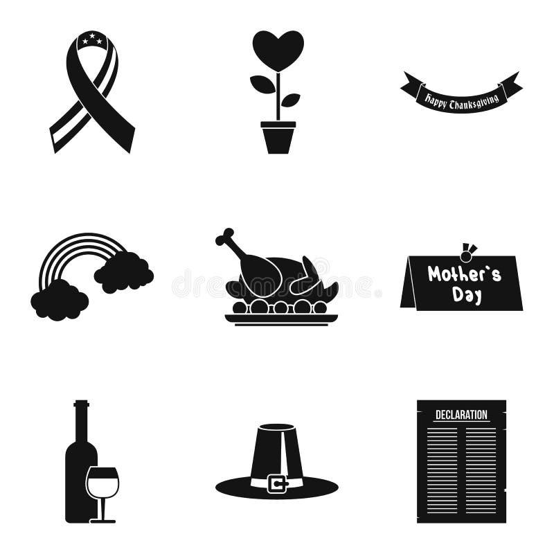 Icônes de liste de cause réglées, style simple illustration stock