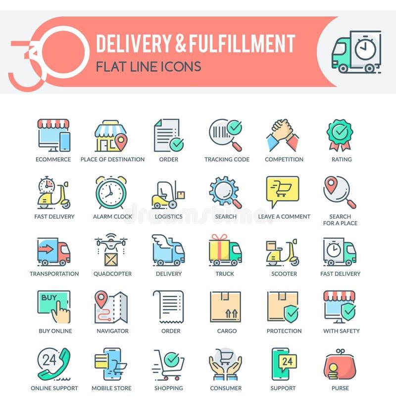Icônes de livraison images libres de droits