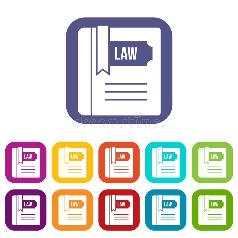 Icônes de livre de loi réglées illustration libre de droits