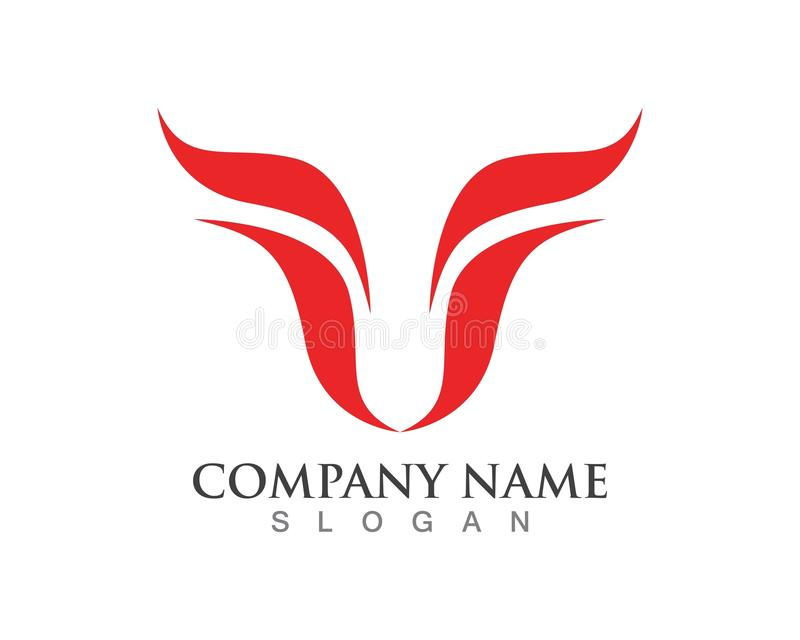 Icônes de logo et de calibre de klaxon de Taureau illustration libre de droits
