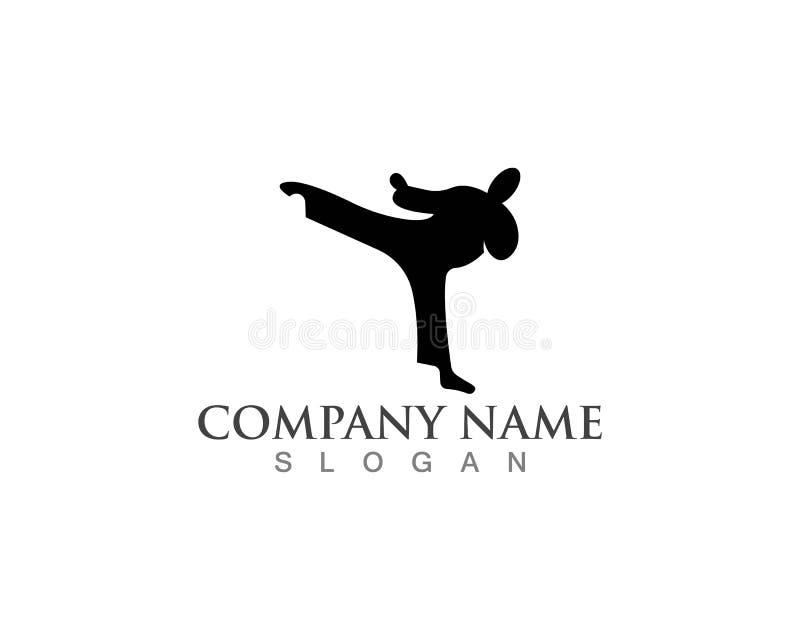 Icônes de logos de karaté illustration de vecteur