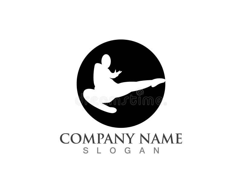 Icônes de logos de karaté illustration stock