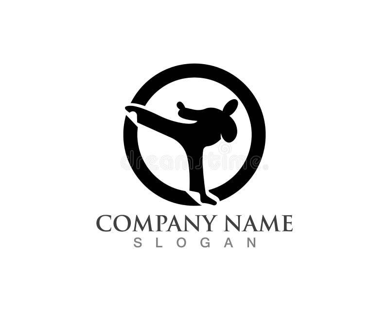 Icônes de logos de karaté illustration libre de droits