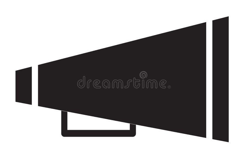 Icônes de mégaphone d'acclamation sur le fond blanc ic?ne de m?gaphone d'acclamation pour votre conception de site Web, logo, app illustration de vecteur