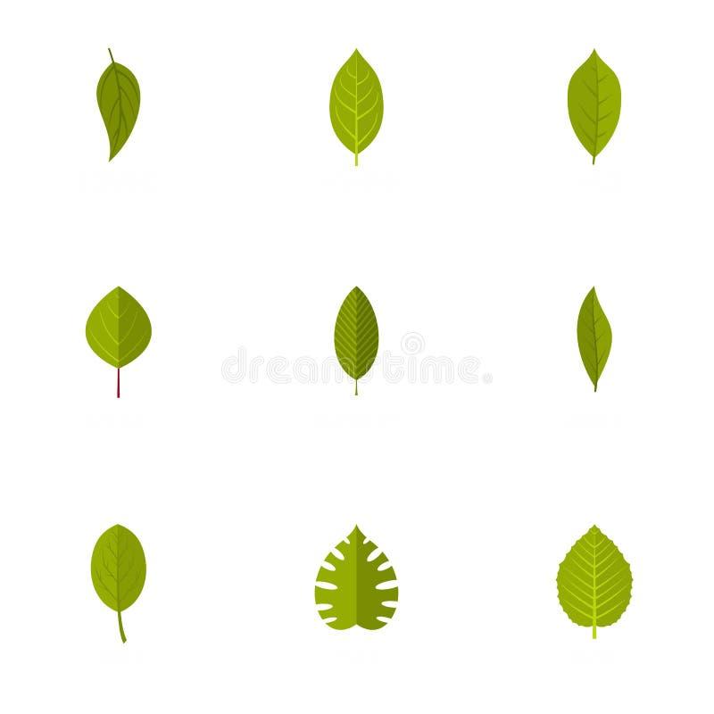 Icônes de mauvaise herbe réglées, style plat illustration de vecteur