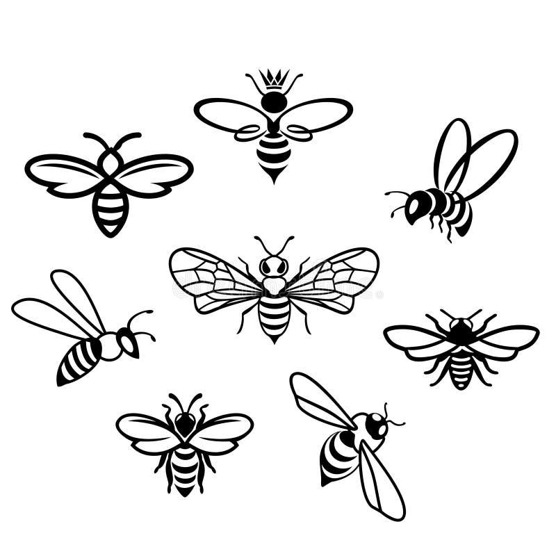 Icônes de miel réglées photo libre de droits