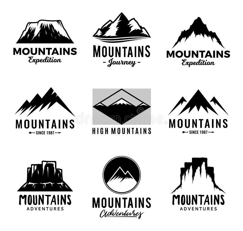 Icônes de montagnes de vecteur illustration libre de droits