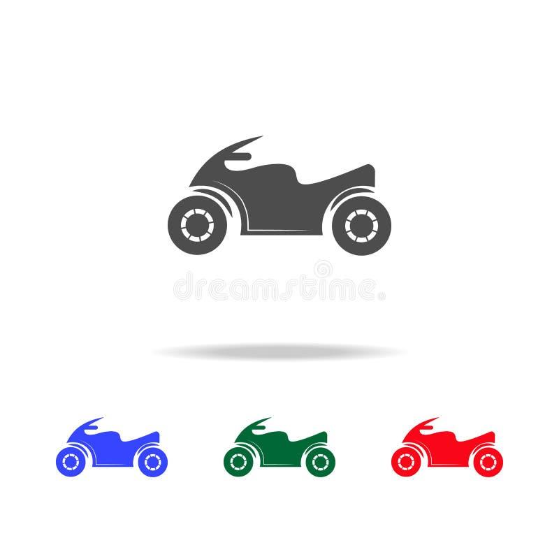 Icônes de moto de sport Éléments d'élément de transport dans les icônes colorées multi Icône de la meilleure qualité de conceptio illustration stock