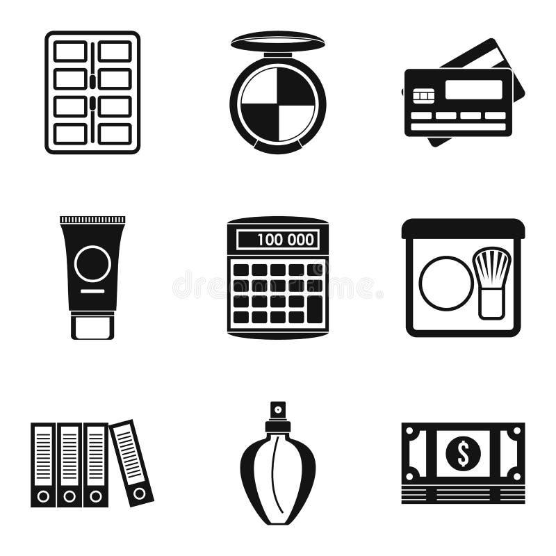 Icônes de planification des affaires réglées, style simple illustration de vecteur