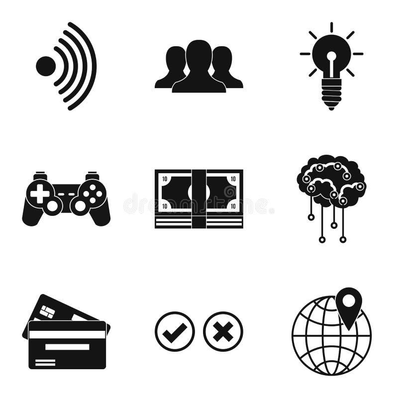 Icônes de progrès d'ordinateurs réglées, style simple illustration stock