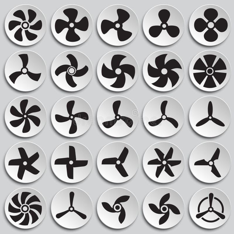 Icônes de propulseur réglées sur le fond de plats pour le graphique et la conception web Signe simple de vecteur Symbole de conce illustration de vecteur