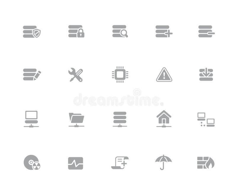 Icônes //de réseau et de serveur 32 séries blanches d'icônes de pixels photos libres de droits