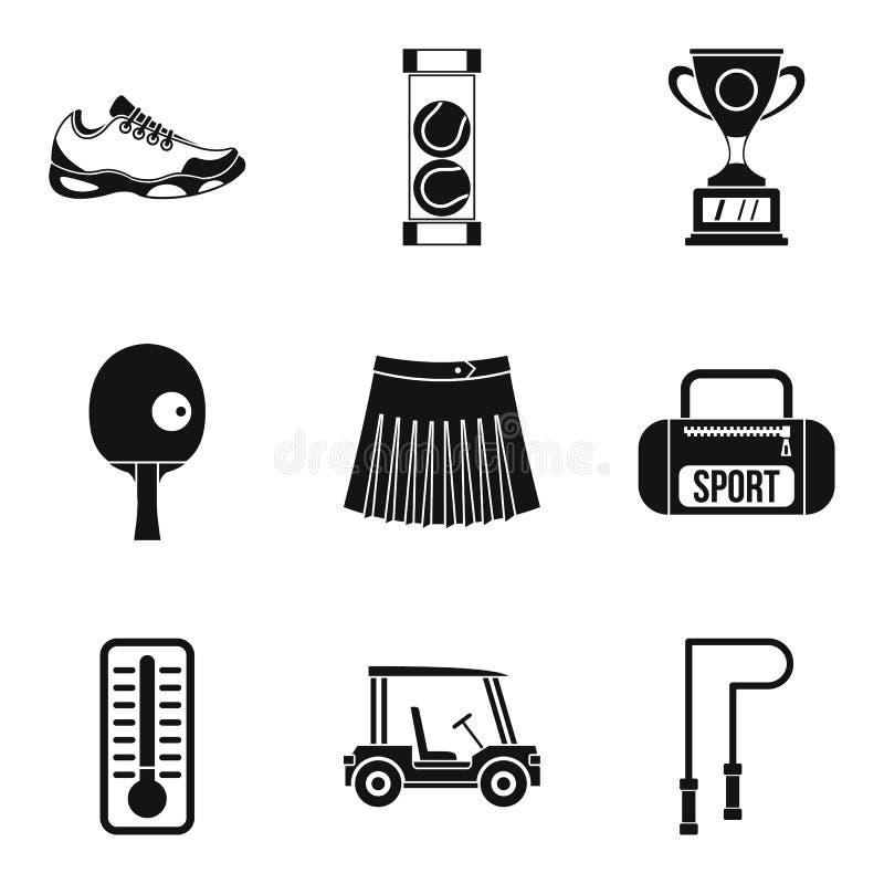 Icônes de séance d'entraînement de sport réglées, style simple illustration libre de droits