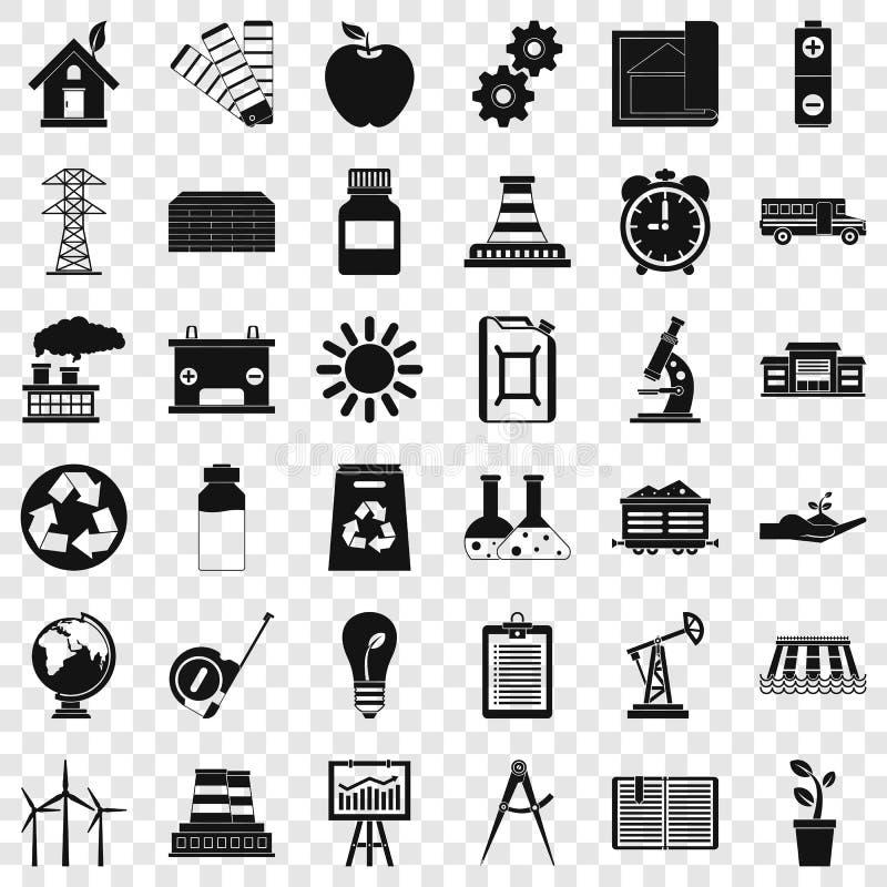 Icônes de société de financement financière réglées, style simple illustration stock