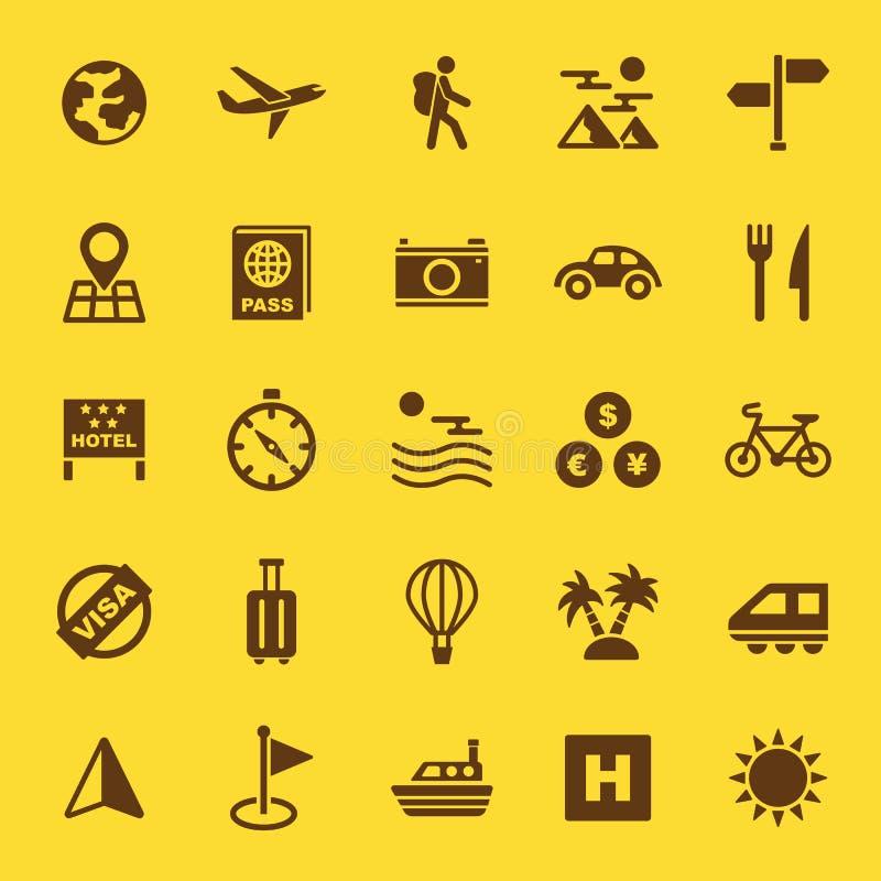 Icônes de solide de voyage illustration de vecteur
