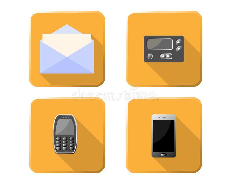 Icônes de système de communication photographie stock