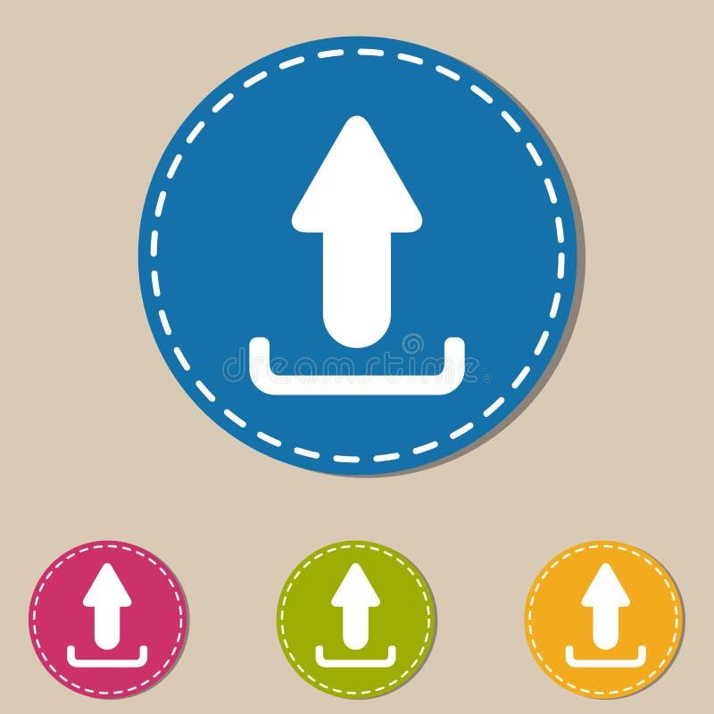 Icônes de téléchargement - illustration colorée de vecteur - d'isolement sur le fond monochrome illustration libre de droits