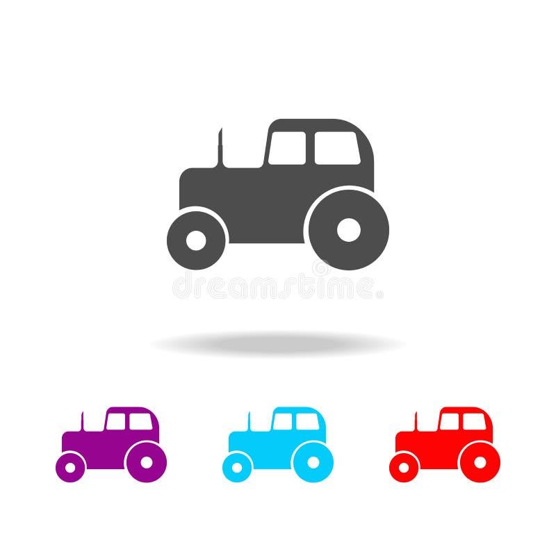 Icônes de tracteur Éléments des aliments de préparation rapide dans les icônes colorées multi Icône de la meilleure qualité de co illustration de vecteur