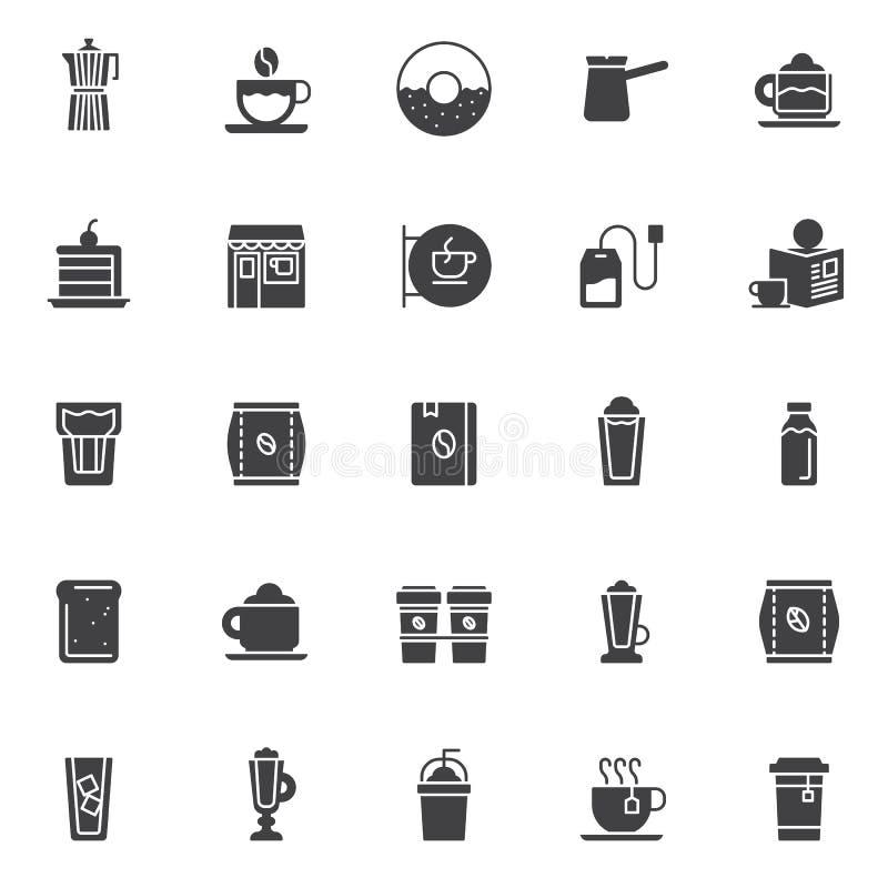 Icônes de vecteur de café réglées illustration libre de droits