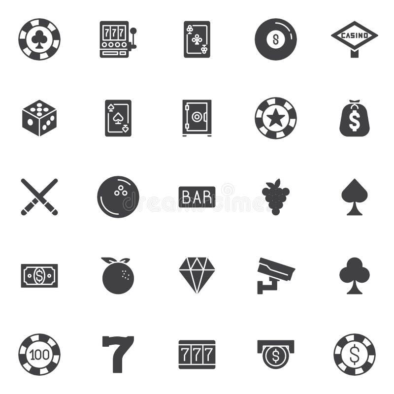 Icônes de vecteur de casino réglées illustration de vecteur