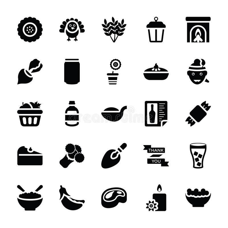 Icônes de vecteur de nourriture et de cadeaux illustration de vecteur