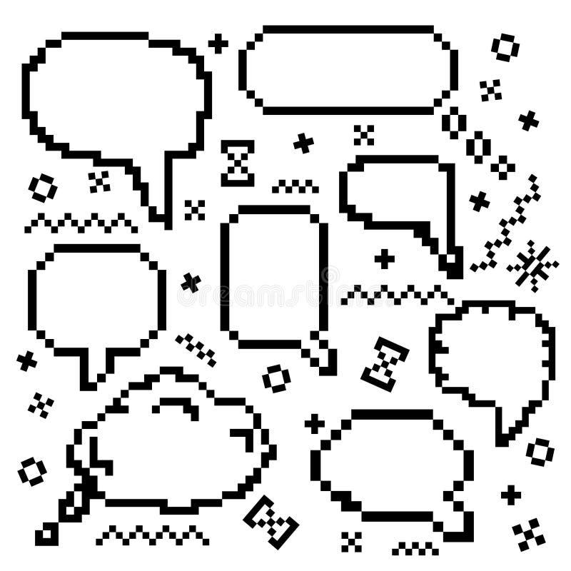Icônes de vecteur de pixel réglées illustration de vecteur