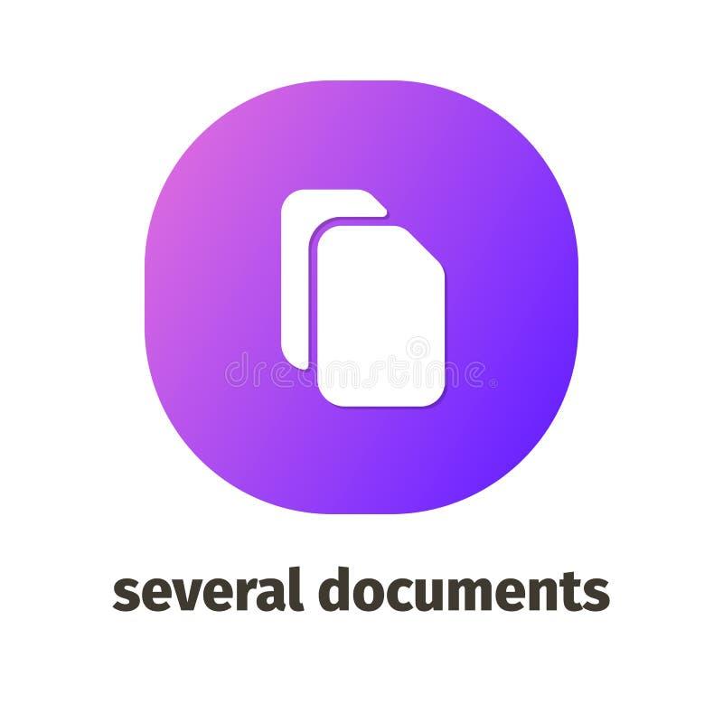 Icônes de vecteur pour le Web et les applications mobiles illustration stock