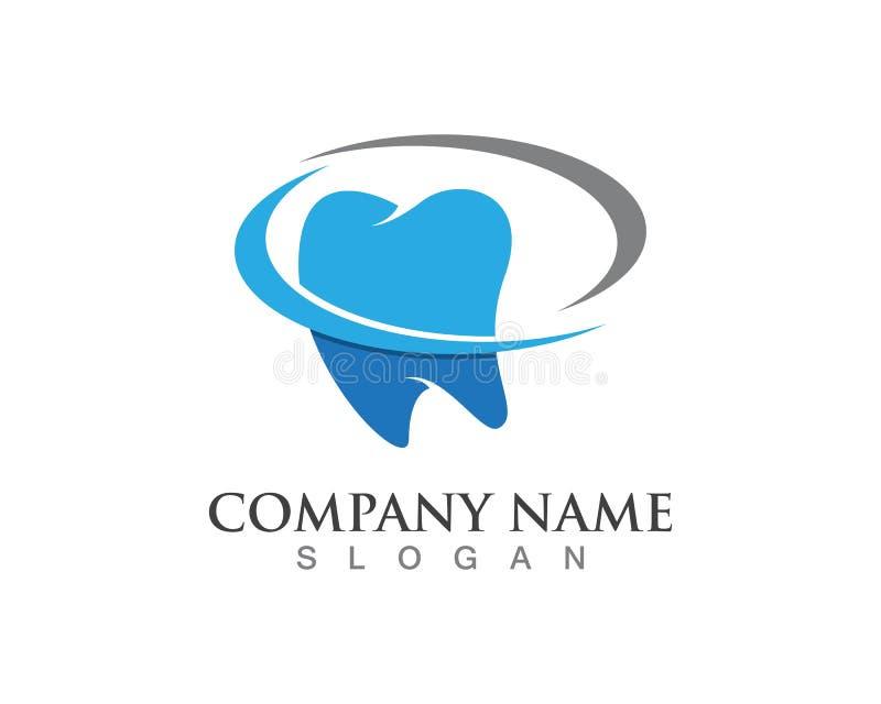 Icônes dentaires de symboles de logos illustration de vecteur