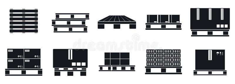 Icônes des plateaux de palette, style simple illustration de vecteur