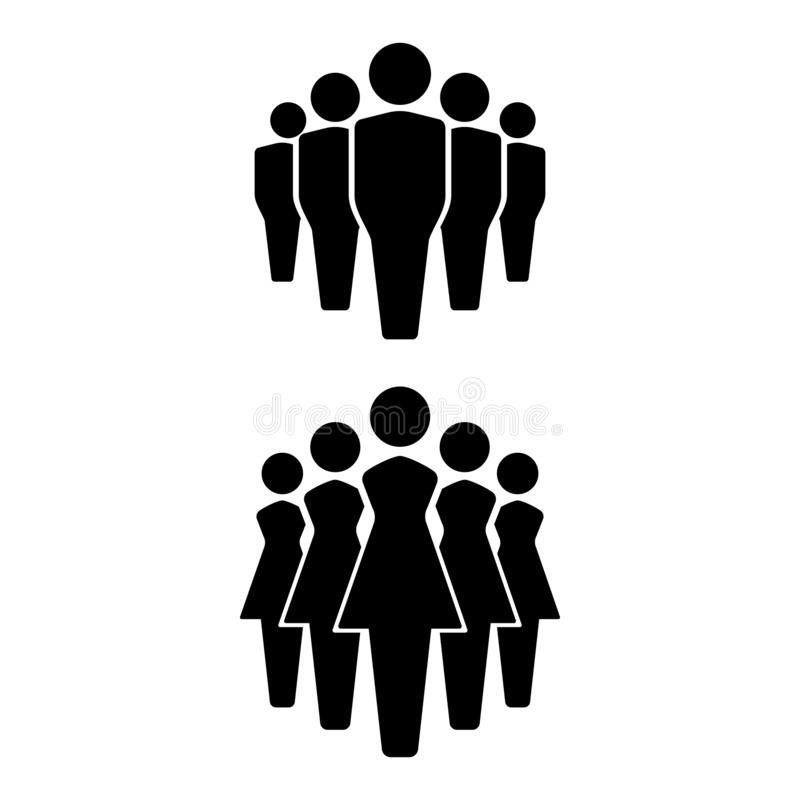 Icônes ensemble, icône d'équipe, groupe de personnes de personnes Hommes et femmes illustration de vecteur