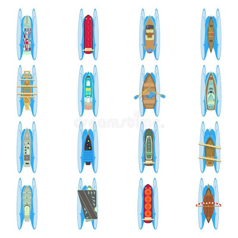 Ic?nes ensemble, style du monde de l'eau de bande dessin?e illustration stock