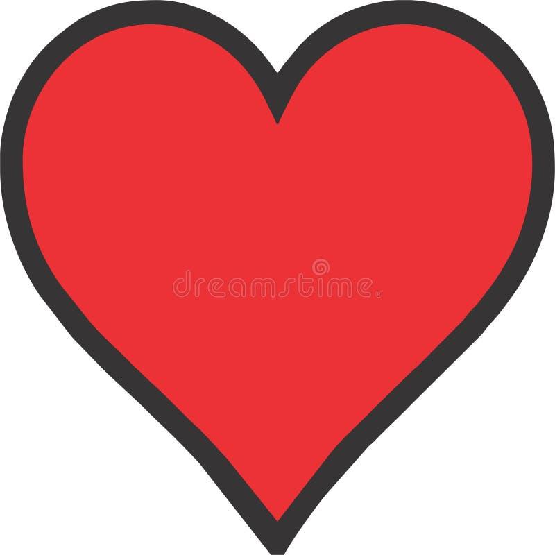 Icônes ENV de coeur de coeur illustration de vecteur