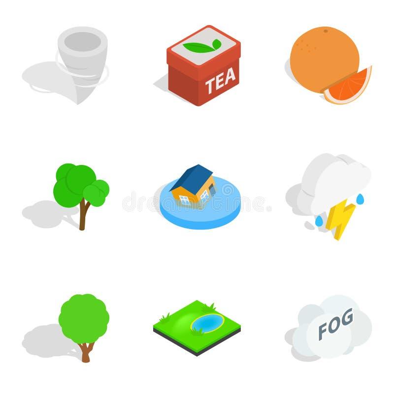 Icônes essentielles de difficulté réglées, style isométrique illustration libre de droits