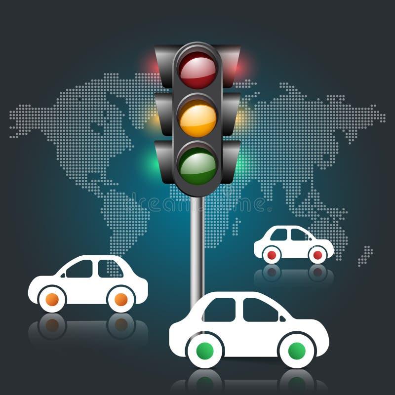 Icônes infographic de calibre et de vente de conception de route Li du trafic illustration de vecteur