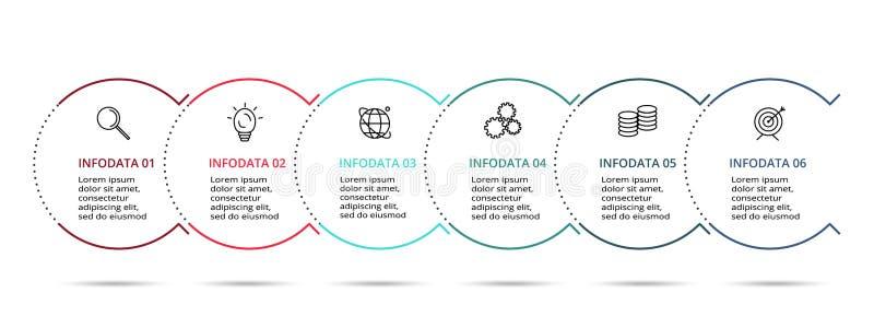 Icônes infographic linéaires de vecteur et de vente de conception pour le diagramme, le graphique, la présentation et le diagramm illustration de vecteur
