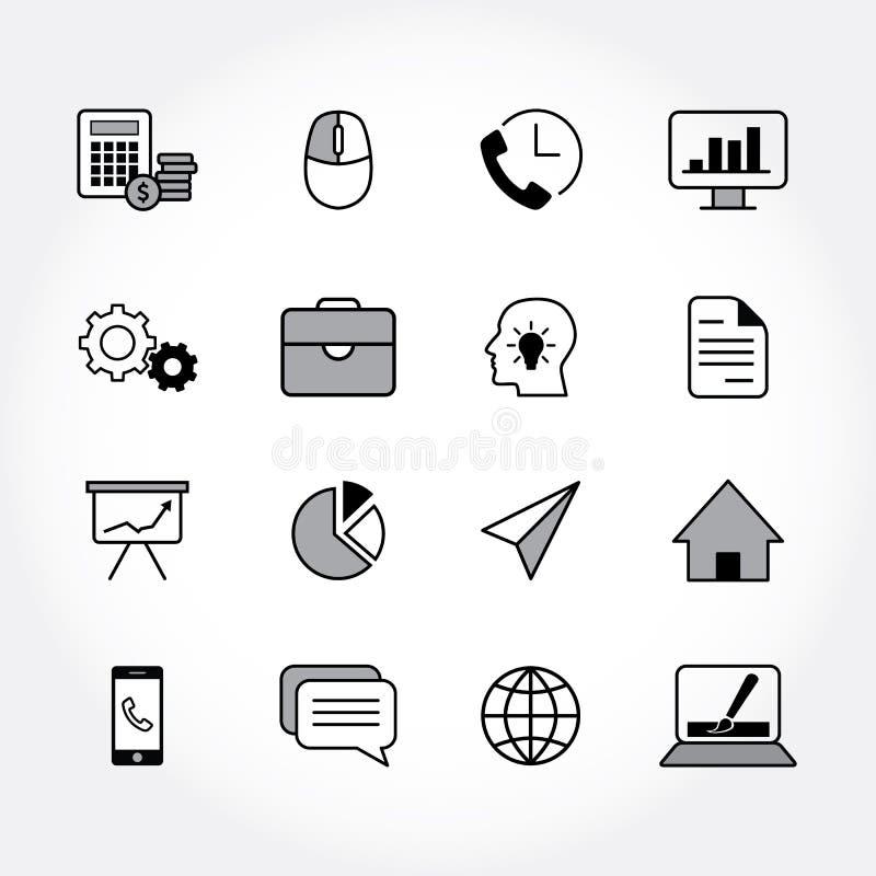 Icônes modernes d'affaires illustration de vecteur