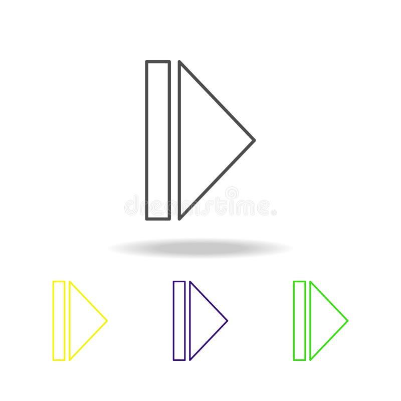 icônes multicolores de signe de mouvement lent Ligne mince icône pour la conception de site Web et le développement d'appli Icône illustration libre de droits