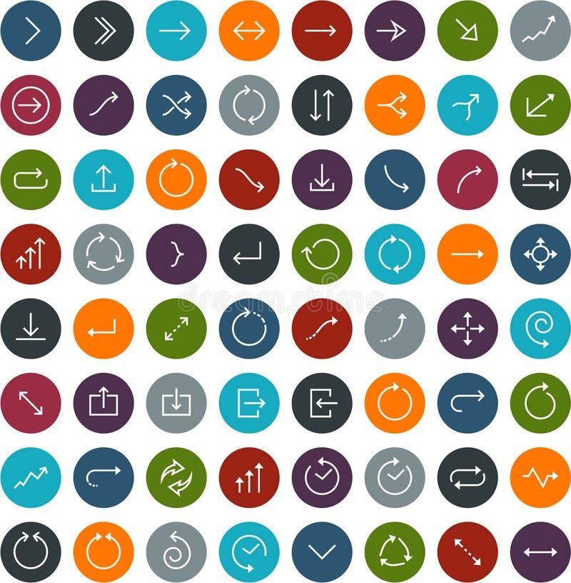 Icônes plates de flèche illustration libre de droits