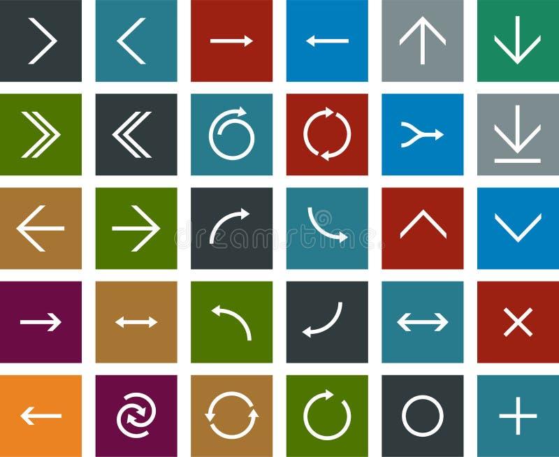Icônes plates de flèche illustration de vecteur