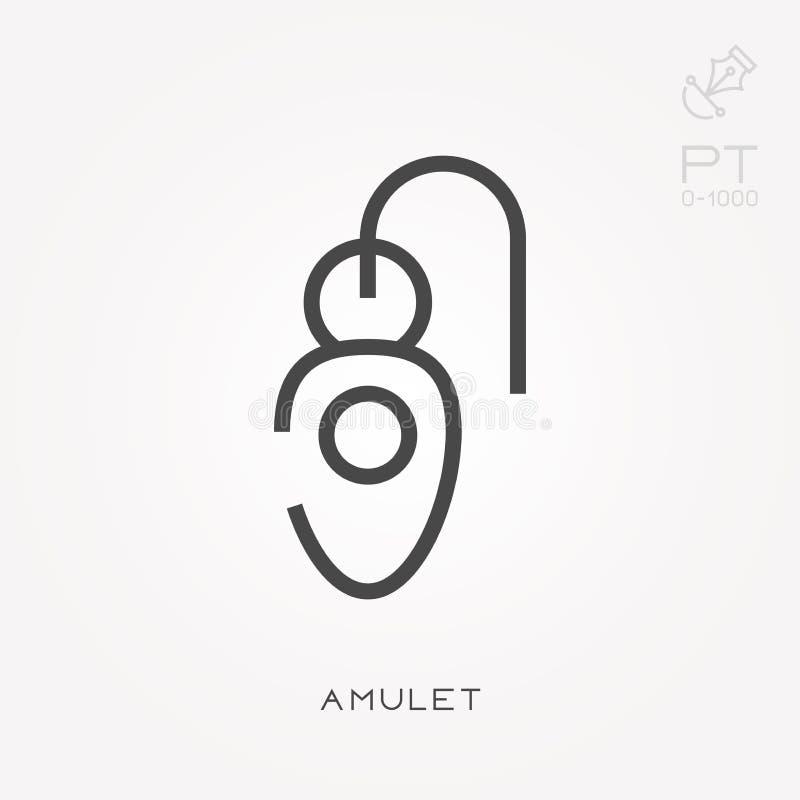 Icônes plates de vecteur avec l'amulette illustration de vecteur