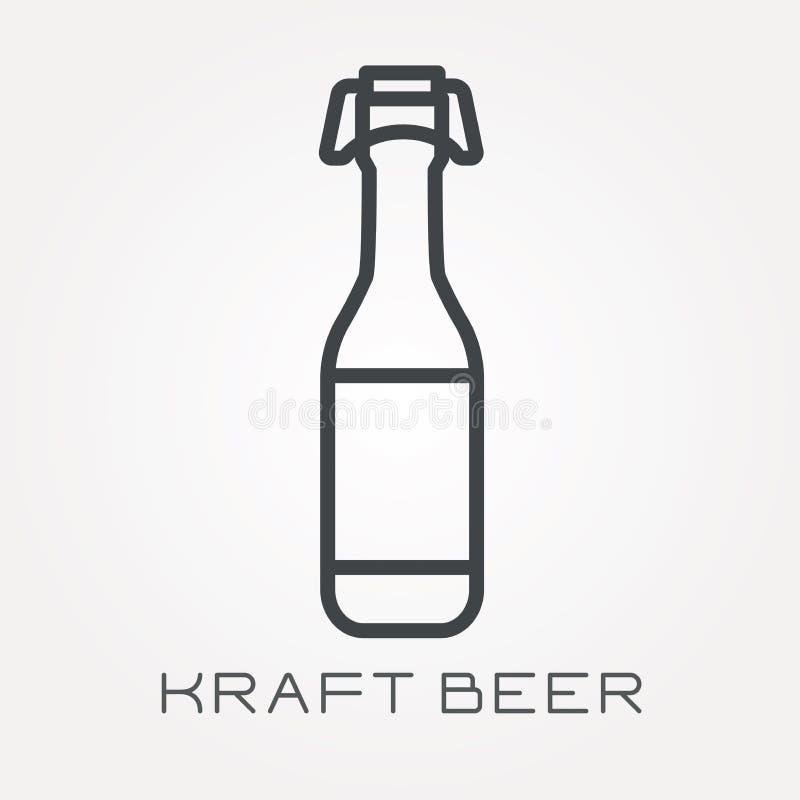 Icônes plates de vecteur avec de la bière de papier d'emballage illustration libre de droits