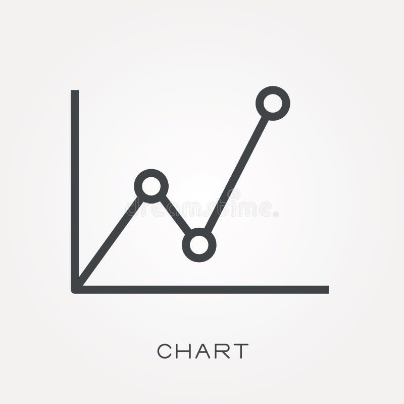 Icônes plates de vecteur avec le diagramme illustration de vecteur