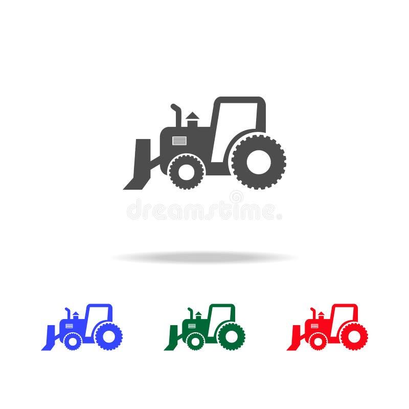 Icônes puissantes de tracteur Éléments d'élément de transport dans les icônes colorées multi Icône de la meilleure qualité de con illustration stock