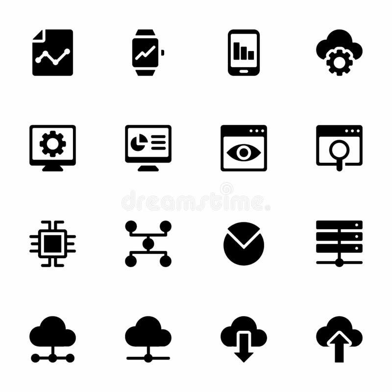 Icônes remplies par Analytics d'affaires illustration de vecteur