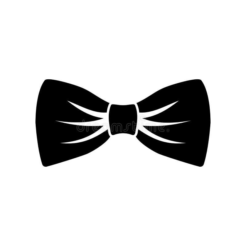 Icônes simples de lien de noeud papillon ou de cou d'isolement Arc en soie ?l?gant de cou Vecteur d'? accessoire d'?v?nement de V illustration stock