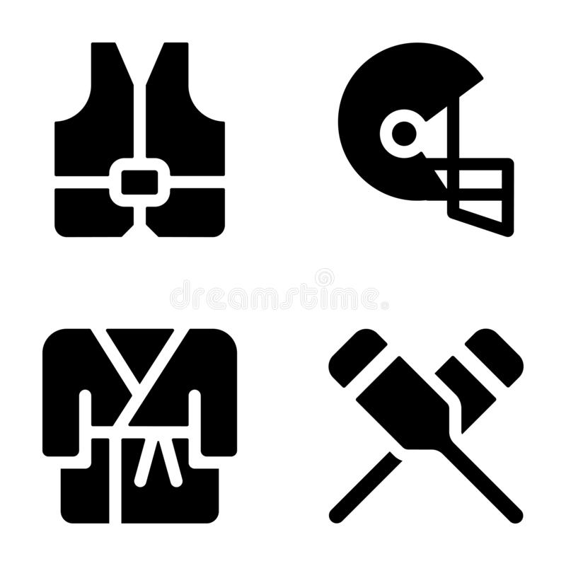 Icônes solides de sports illustration libre de droits