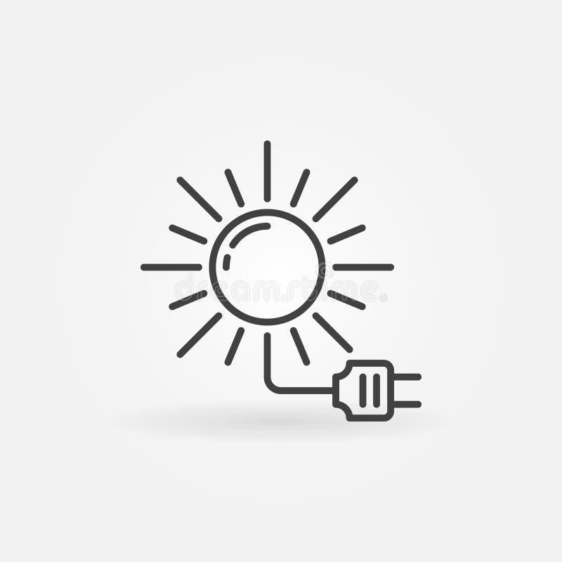 Icône à énergie solaire illustration libre de droits