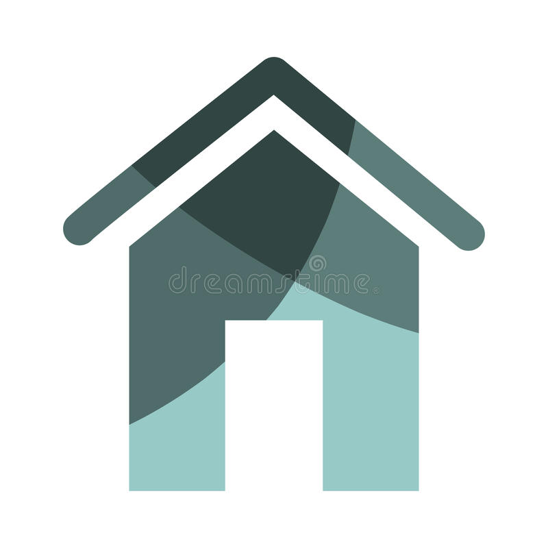 Icône à la maison de silhouette de maison illustration de vecteur