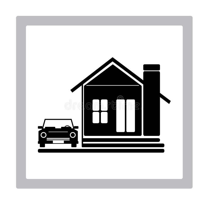 Icône à la maison idéale illustration stock