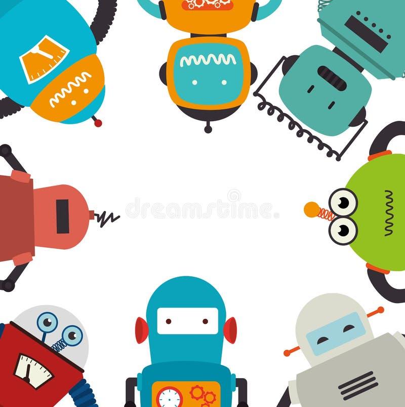 Icône électronique de carte de robots illustration libre de droits